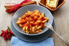 Italian pasta with meat sauce Stock Photography