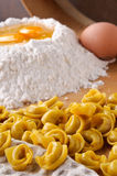 Italian pasta, meat tortellini Stock Image