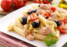 Italian pasta from the mediterranean sea Stock Image