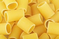 Italian pasta mezze maniche stock photo