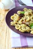 Italian pasta with mushrooms Stock Photos