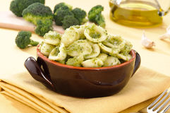Italian pasta, orecchiette with broccoli Royalty Free Stock Photography