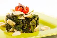 Italian Pasta - Orecchiette With Turnip Top Royalty Free Stock Photography