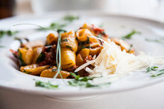Italian Pasta - Paccheri Stock Images