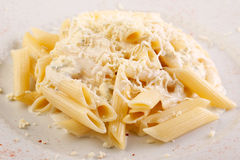Italian pasta with parmigiana cheese Stock Photography