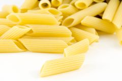 Italian pasta, penne Stock Photos