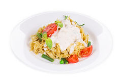 Italian pasta with pesto Royalty Free Stock Photos