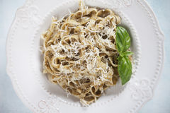 Italian pasta with pesto genovese Stock Photos