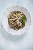 Italian pasta with pesto genovese Royalty Free Stock Images