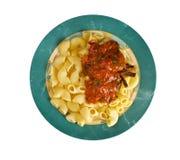 Italian pasta pipe rigate Royalty Free Stock Photo