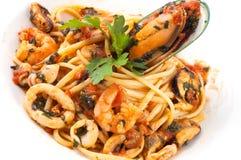 Italian pasta plate Stock Image