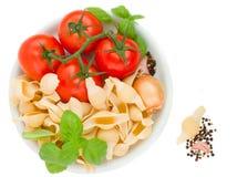 Italian pasta in plate Stock Image