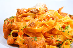 Italian pasta plate Royalty Free Stock Photo