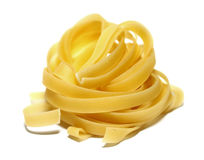 Italian pasta portion isolated on white background closeup Royalty Free Stock Photos