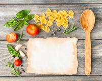 Italian pasta recipe Stock Photo