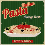 Italian pasta retro poster Royalty Free Stock Photography
