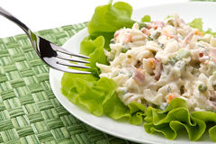 Italian pasta salad Royalty Free Stock Images