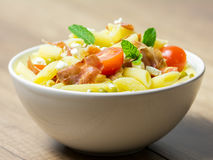 Italian Pasta Salad Bowl Stock Photos