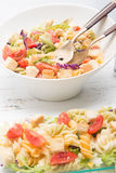 Italian pasta salad with tomatoes Royalty Free Stock Photography