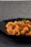 Italian Pasta and Sauce Stock Image