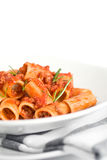 Italian Pasta and Sauce Stock Image