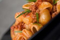 Italian Pasta and Sauce. Close Up Of Italian Pasta and Sauce Royalty Free Stock Photography