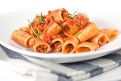 Italian Pasta and Sauce Royalty Free Stock Image