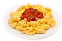 Italian pasta and sauce Royalty Free Stock Image