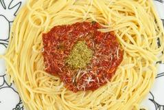 Italian pasta with sauce Royalty Free Stock Photography