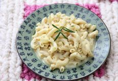 Pasta with cheese Royalty Free Stock Image