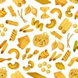 Italian pasta seamless pattern background Stock Image