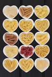 Italian Pasta Selection stock images