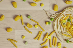 Italian Pasta Shapes Stock Photo