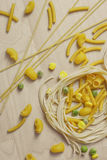 Italian Pasta Shapes Royalty Free Stock Images
