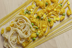 Italian Pasta Shapes Royalty Free Stock Photos