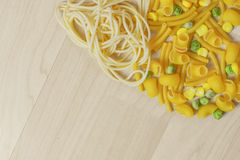 Italian Pasta Shapes Stock Image