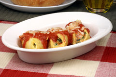 Italian pasta shell rolls Stock Photo