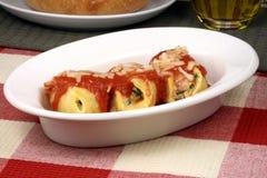 Italian pasta shell rolls stock photo