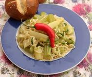 Italian Pasta. Some italian pasta with celery and chili Royalty Free Stock Photography