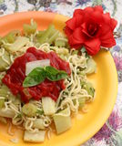 Italian Pasta. Some italian pasta with celery and chili Stock Images