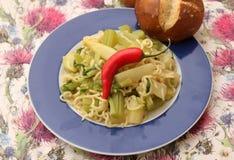 Italian Pasta. Some italian pasta with celery and chili Stock Photos