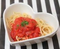 Italian pasta. Some italian pasta with a sauce of tomatoes Royalty Free Stock Photos