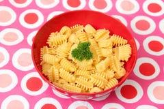 Italian Pasta. Some uncooked italian pasta in a bowl Stock Photos