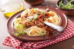 Italian pasta spaghetti bolognese Stock Photography