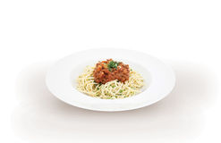 Italian pasta spaghetti bolognese Stock Photo