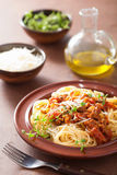 Italian pasta spaghetti bolognese. Traditional italian pasta spaghetti bolognese Royalty Free Stock Images