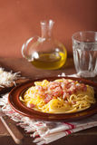 Italian pasta spaghetti carbonara Stock Photos