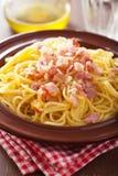 Italian pasta spaghetti carbonara Royalty Free Stock Image