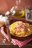 Italian pasta spaghetti carbonara Stock Image