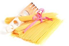 Italian pasta with spaghetti measure template Stock Photos